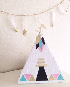 Teepee Pinata For Pow-Wow Birthday Party by bloombybre on Etsy