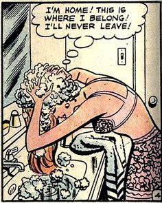 "Comic Girls Say .. ""I'm Home , this is where I belong . I'll never leave "". #comic #vintage"
