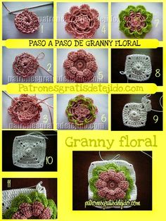 Grannys floral crochet