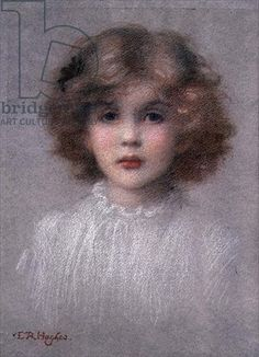 Edward Robert Hughes - Portrait of a Young Girl (pastel on paper)