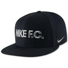 Nike F.C. Block True Snapback Cap Black Black White