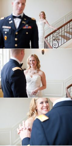a first look between soon to be Mr. and Mrs. so sweet!  Photography By    http://halforangephotography.com