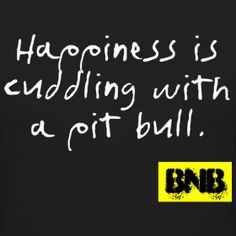 Happiness is cuddling with a Pit Bull. Who needs a pillow, anyway? :) #pitbull…