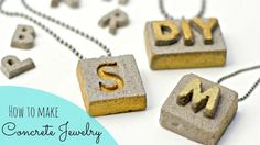 DIY Cement Jewelry - Something different for the older girls
