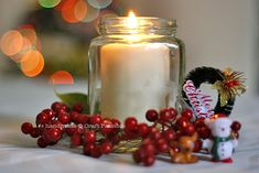 Get the tutorial to DIY a Frosted Glass Jar Tealight to decorate your dining table.