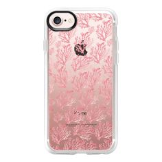 Modern coral pink watercolor coral floral - iPhone 7 Case And Cover ($40) ❤ liked on Polyvore featuring accessories, tech accessories, iphone case, floral iphone case, clear iphone case, iphone cover case, pink iphone case and apple iphone case