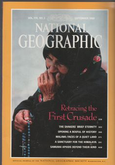 September 1989 NATIONAL GEOGRAPHIC  Magazine RETRACING THE 1st CRUSADE