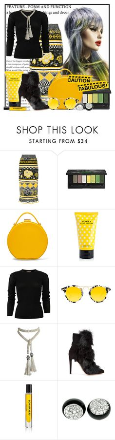 """""""Caution: Fabulous!"""" by doozer ❤ liked on Polyvore featuring MSGM, Kat Von D, Nico Giani, Marc Jacobs, Michael Kors, Krewe, Marina J., Gianvito Rossi, D.S. & DURGA and Umane"""