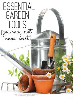 Having the right tool for the job is essential where gardening is concerned. Walk down any garden tool aisle and you will be overwhelmed by some of the choices. I've put together a short list of very effective, but lesser know gardening tools that everyon Gardening For Dummies, Gardening Tips, Kitchen Gardening, Easy Garden, Diy Garden Decor, Garden Ideas, Permaculture, Garden Tool Storage, Bush Beans