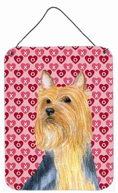 Silky Terrier Hearts Love and Valentine's Day Wall or Door Hanging Prints