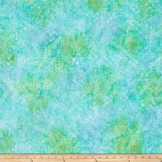 Kaufman Batiks Greenhouse Trellis Sweet Pea from @fabricdotcom  From Robert Kaufman, this cotton print batik features a geometric design and is perfect for quilting, apparel and home decor accents. Colors include shades of blue and green.