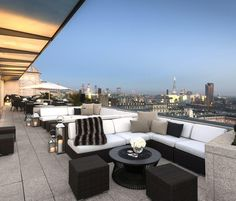 Visual Peg for DORMUS Roof Deck Lounge. Original Photo ME London Hotel. Manila Dormitory: DORMUS Boutique Livitng Spaces.