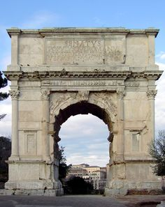 Arch of Titus in the Roman Forum, commemorating the sack of Jerusalem.