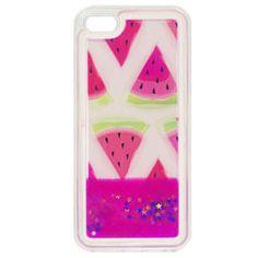 Etui Liquid Glitter TPU Case WATERMELON Apple iPhone 5/5s/SE - Różowy