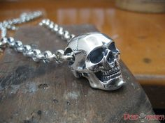Deluxe, solid Stirling silver and gold skull pendants for men and women. From the creators of the world famous Classic Skull Ring - Deadringer Jewelry. Skull Wedding Ring, Skull Engagement Ring, Celtic Wedding Rings, Skull Jewelry, Gothic Jewelry, Silver Jewelry, Skull Rings, Western Jewelry, Hippie Jewelry