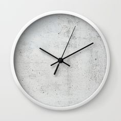 Concrete texture Wall Clock by patternmaker White Wall Clocks, Unique Wall Clocks, Wood Clocks, Beton Design, Concrete Design, Concrete Wall, Wall Watch, Concrete Texture, Concrete Furniture