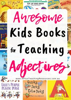 Must Have Kids Books To Teach Adjectives Teaching Grammar, Grammar Lessons, Teaching Writing, Grammar Worksheets, Teaching Ideas, Literacy Skills, Literacy Centers, Reading Lessons, Reading Lists