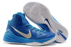 100% authentic 664a1 43968 Mens Nike Hyperdunk 2014 Game Royal Blue Hero Metallic Silver-White Cheap  Nike Running