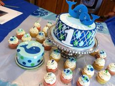 Ocean+Preppy+Boy+-+Happy+1st+Birthday,+Campbell!    I+took+my+inspiration+from+a+few+cakes+I+found+on+CC+and+google. Whale Birthday Parties, Boys First Birthday Party Ideas, Baby Boy First Birthday, First Birthday Cakes, 3rd Birthday, Creative Birthday Cakes, Cakes For Boys, Boy Cakes, Happy 1st Birthdays
