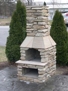 Veranda Series Outdoor Fireplace Kit With An 18  Fireplace Kits Outdoor