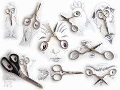 #ilustracja #illustration #nozyczki #scissors