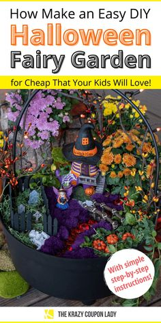 Halloween Fairy, Halloween Village, Halloween Items, Easy Halloween, Halloween Garden Ideas, Rustic Halloween, Halloween Crafts, Mini Fairy Garden, Fairy Garden Houses