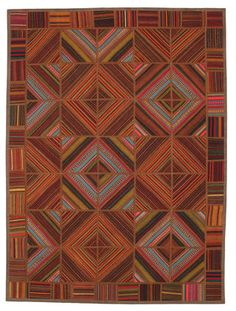 A unique Kilim Patchwork carpet TBE43 198x146cm from Turkey - Available from CarpetVista.com for only $762