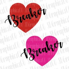 Bundle- Heart Breaker, SVG, DXF, PNG, cut file, cricut, silhouette, cameo, valentines day svg, heart breaker svg, valentines day, heart svg by SBGraphicsCo on Etsy