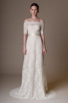 Beautiful lace wedding dress from Marchesa Spring 2016 bridal collection.