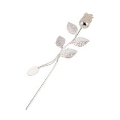 Personalised Silver Plated Rose With Pearl Bud - a great gift for the one you love this Valentine's Day | The Gift Experience