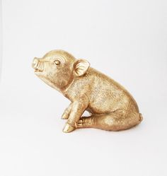 Piglet, Nursery Decor, Pigs, Sculpture Pig, Pig Figurine, Kitchen Decor, Pig, Farm Animal, Gift for Her, Farmyard Decor, Home Decor