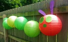 Very Hungry Caterpillar Party #veryhungrycaterpillar #partydecor