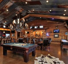 Home accessories & furnishing ideas from Awesome Man Cave Ideas - Check out these 10 awesome man cave ideas!Choose Your Weapon Video Game Wall Decal Sticker for game room or man cave Cho . Best Man Caves, Rustic Man Cave, Man Cave Barn, Log Cabin Man Cave Ideas, Western Man Cave Ideas, Western Bar, Ultimate Man Cave, Trophy Rooms, Woman Cave
