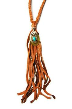 Brown Leather Fringe Necklace See related items on Fanatic Leather Store.