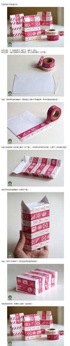 envelope + washi tape