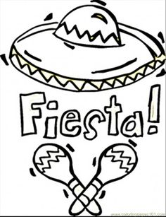 fiesta coloring sheets | Coloring Pages Fiesta (Countries > Mexico) - free printable coloring ...