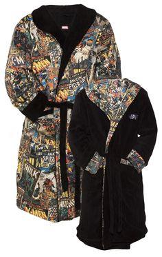 Men's Marvel Comics Characters Reversible Dressing Gown : TruffleShuffle.com