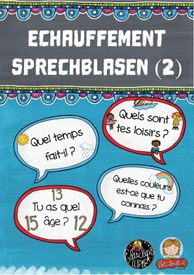 Échauffement-Sprechblasen (2) – Französisch History Class, Teaching French, School Stuff, Teaching French Immersion, Study Techniques, School Social Work, Play Based Learning, Foreign Language, Geography