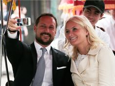 Posted March 22, 2014.....Crown Prince Haakon and Crown Princess Mette Marit are taking a selfie while visiting Vietnam this week.