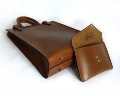 basader leather tote