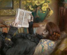 Paul-Albert Bartholomé (French, 1848–1928) - The Artist's Wife (Périe) Reading, 1883 - The Metropolitan Museum of Art, NY