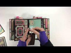 DCWV Vintage Collector Vertical Paper Bag Mini Album