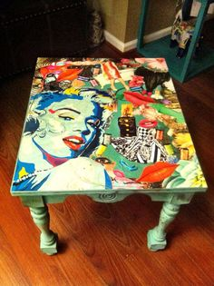 Mixed mediadecoupaged Marilyn Monroe inspired by Perfectlypicky, $75.00