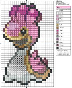 Pokémon – Shellos 20-30 x 40-50, Birdie's Patterns, Gaming, Pokémon, Q - T…