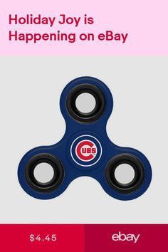 3a999be6db1 Chicago Cubs Diztracto Spinner Logo Toy Stress Fidget Hand Finger New