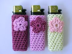 "Because nothing says ""classy"" like a crocheted lighter cover...rofl"