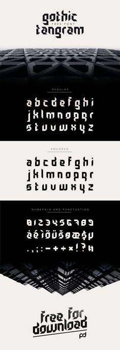 Gothic Tangram Free Typeface - Smashfreakz