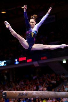 McKayla Maroney (United States) on balance beam at the 2012 Secret US Classic
