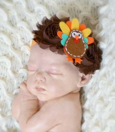Thanksgiving Turkey Headband Hair Accessory by ThePoshContessa