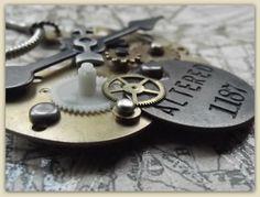 Steampunk halsketting van Het Huis van Makers op DaWanda.com  #handmade  #necklace  #for sale  #dawanda #steampunk  #clock